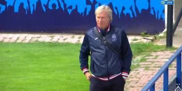 Михайличенко на матче «Динамо U-19»