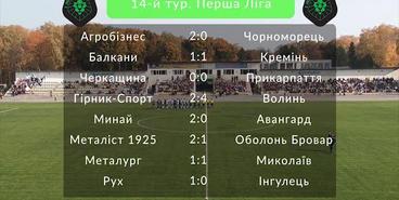 Первая лига, 14 тур