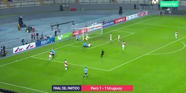 «Привоз» Самбрано в матче Перу — Уругвай
