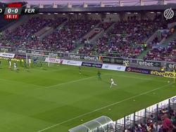 Гол Харатина за «Ференцварош» в матче Лиги чемпионов с «Лудогорцом»