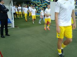 Украина — Люксембург: выход на поле