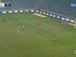 Результативная ошибка Шабанова в матче «Легия» — «Пяст»