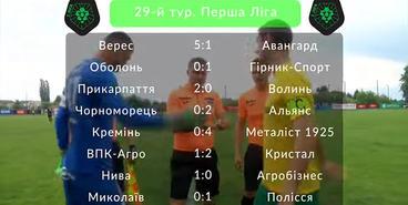 Первая лига, 29-й тур