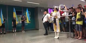 Встреча сборной Украины U-20 в Борисполе