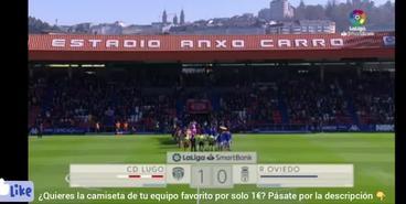 «Луго» — «Овьедо» — 1:0. Гол в ворота Лунина