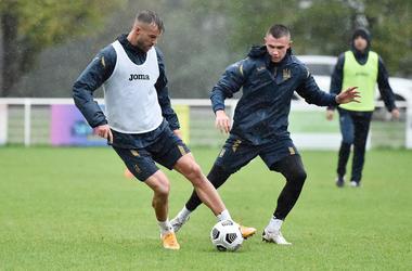 Тренировка сборной Украины в Париже