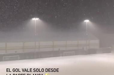 Снегопад на базе «Динамо»