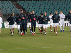 Тренировка сборной Украины в Люксембурге