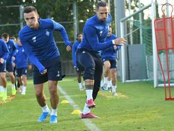 Тренировка «Динамо» за день до матча с «Мальме»
