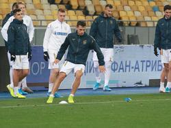 Украина — Эстония: предматчевая тренировка сборной Украины на НСК «Олимпийский»