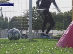 Тренировка Лунина в «Реале»