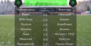 Первая лига. 16 тур
