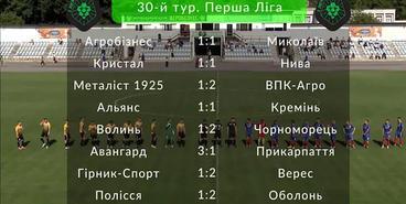 Первая лига, 30-й тур