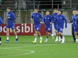 Тренировка «Динамо» в Санкт-Галлене