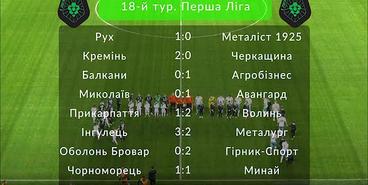 Первая лига, 18-й тур